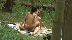 Amateur fucking forest couple