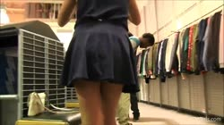 teen flashing in mall