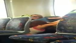 Real Teen Lesbians Caught Munching on Train