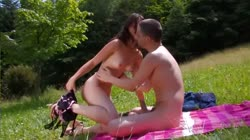 Gorgeous Teen Fuck's In The Park