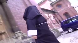 Dirty nun Annette pissed on
