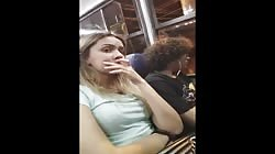 Girl get Wet pants looking at strange dick and boyfriend caught