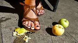 windfall crush - apples and feet