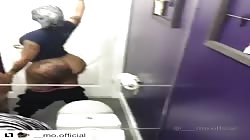 Moniquexxx Badonkadonk Ass Clapping In Public Bathroom