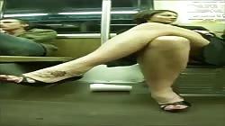 sexy big feet heels public voyeur
